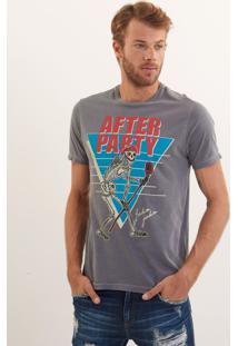 Camiseta John John Rg Mad Rocker Malha Cinza Masculina Tshirt Rg Mad Rocker-Cinza Medio-Gg