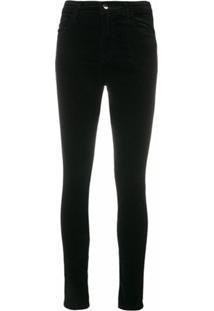 J Brand Calça Jeans Skinny Cintura Alta - Preto