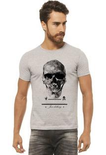 Camiseta Joss - Premium Caveira - Masculina - Masculino-Mescla
