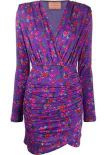Andamane Vestido Colette Com Franzido - Roxo