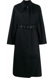 Mackintosh Trench Coat Longo Com Cinto - Preto