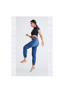 Calça Jeans Bombay Jogger Mel Azul