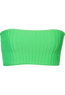 Top Rosa Chá Leah Recortes (Verde Neon, M)