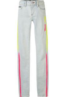 Philipp Plein Calça Jeans Skinny Neon Rock - Azul
