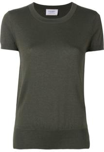 Snobby Sheep Short-Sleeve Fitted Top - Verde