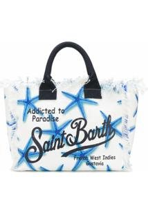 Mc2 Saint Barth Bolsa Tote Vanity De Canvas - Branco