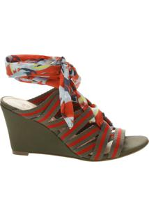 Sandália Anabela Multicolor Red | Schutz