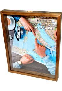 Quadro Prolab Gift Porta Dinheiro Mapa Tabaco - Azul/Marrom - Dafiti
