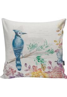 Capa De Almofada Woodpecker- Bege & Azul Escuro- 45Xstm Home