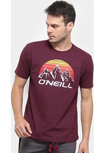 Camiseta O'Neill Moutain Masculina - Masculino-Vinho