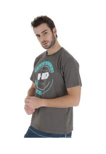 Camiseta Hd Estampada New Basic - Masculina - Cinza Escuro