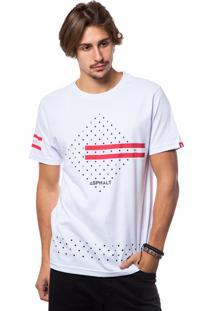 Camiseta Asphalt Red Montain Branco