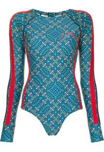 The Upside Body Com Estampa Aztec - Azul