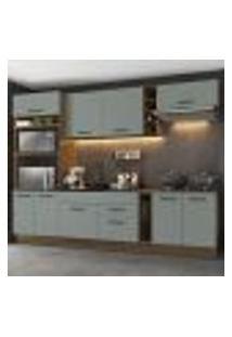 Cozinha Completa Madesa Agata 290001 Com Armário E Balcão (Sem Tampo E Pia) - Rustic/Cinza