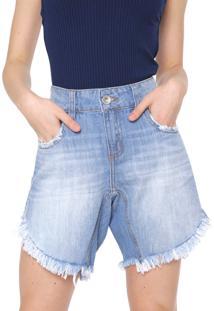 Bermuda Jeans Colcci Reta Tita Azul