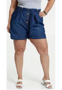 Short Feminino Jeans Clochard Plus Size
