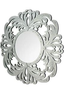 Espelho Veneziano Forest Cor Prata Redondo 1,00 Mt - 34314 Sun House