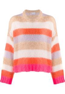 Redvalentino Suéter Com Listras - Neutro