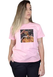 Camiseta Boutique Judith Pizza Is My Bae Rosa