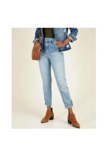 Calça Jeans Puídos Cigarrete Feminina Biotipo