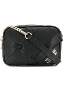 Versace Jeans Couture Cushioned Shoulder Bag - Preto