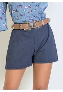 Short Em Moletom Que Imita Jeans