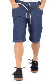 Bermuda Jeans Alfa Azul Marinho