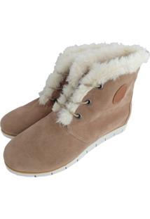 Ankle Boot De Pelo Sapatoweb Camurã§A Bege - Bege - Feminino - Dafiti