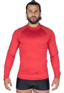 Camisa Bravaa Modas Térmica 037 Vermelho