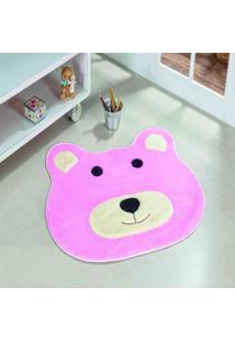 Tapete Dourados Enxovais Formato Ursa Rosa