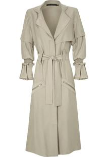 Trench Coat Kika Simonsen Natural - Feminino - Viscose - Dafiti