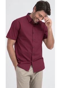 Camisa Social Manga Curta Slim Fit Estampada