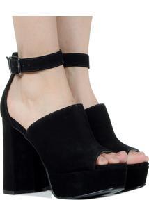 Sapato Preto Nobuck Taquilla