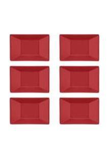 Conjunto De 6 Pratos Fundos 23,5X16Cm Plateau Red