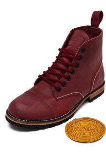 Bota Couro Mcd Beckman Boots Vinho
