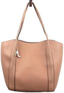 Bolsa Shopping Emporionaka Bag Feminina - Feminino-Nude