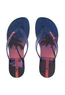 Chinelo Ipanema Wave Natural Marinho