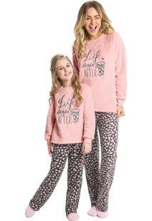 Pijama Longo Bordado Feminino