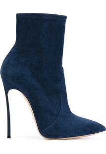 Casadei Ankle Boot De Couro 'Blade' - Azul
