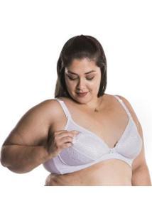 Sutiã Plus Size Amamentação Nayane Rodrigues - Feminino-Branco