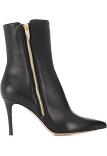 Gianvito Rossi Pointed Ankle Boots - Preto