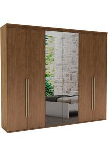 Guarda-Roupa Casal 2,07Cm 6 Portas C/ Espelho Originale Fosco-Belmax - Ebano