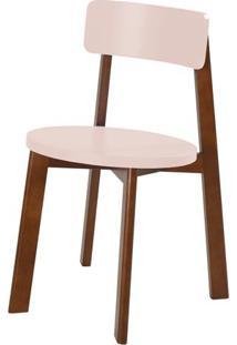 Cadeira Lina Cor Cacau Com Bege Claro - 31540 Sun House