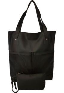 Bolsa Bag Dreams De Praia Impermeável Com Bolsos Preta