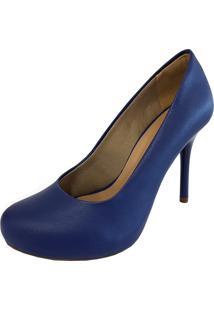 Sapato Hellen Suzan Salto Alto Azul