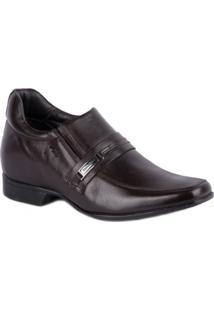 Sapato Rafarillo Social Com Elevação Castanho - Masculino-Marrom Escuro