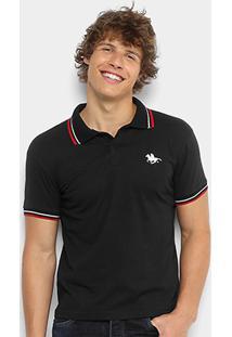 a81fe7dc6c7d2 Camisa Polo Rg 518 Malha Friso Logo Masculina - Masculino-Preto