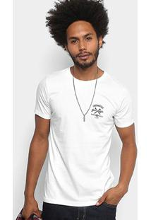Camiseta Dimy Garage Estampada Masculina - Masculino-Branco