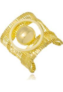Bracelete Le Diamond Aramado Folheado Com Acrilico