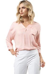 Camisa Mx Fashion Viscose Giorgina Rosê